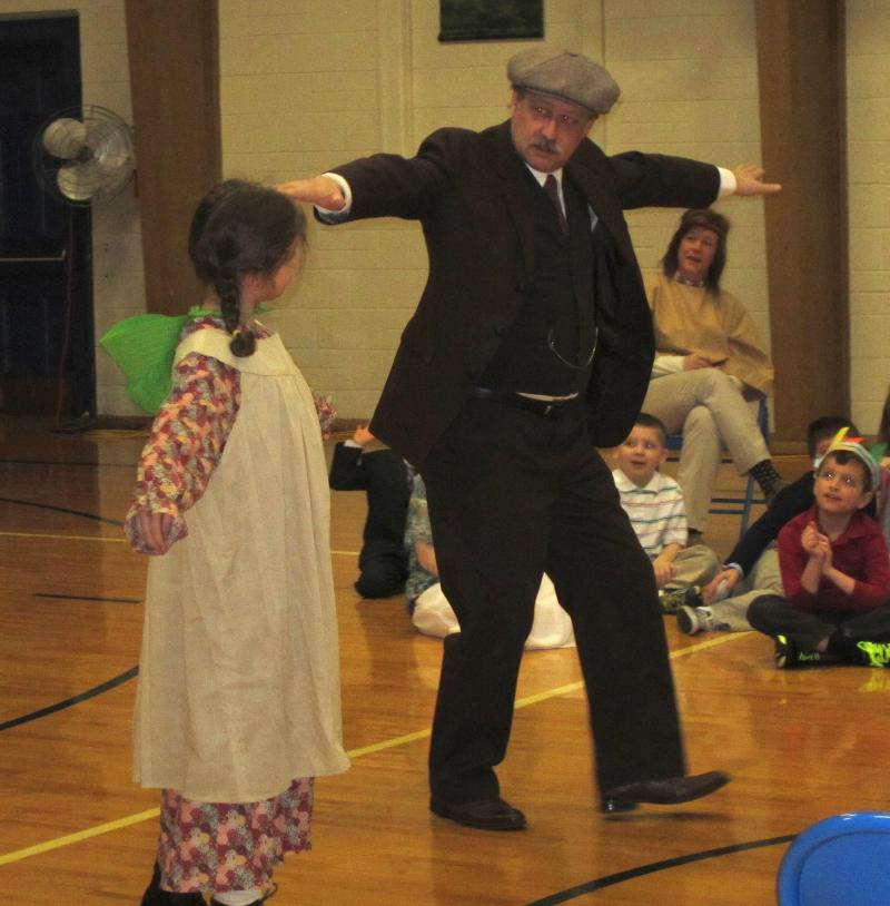 Mr. Haas as Orville in the elementary school setting March 2013.